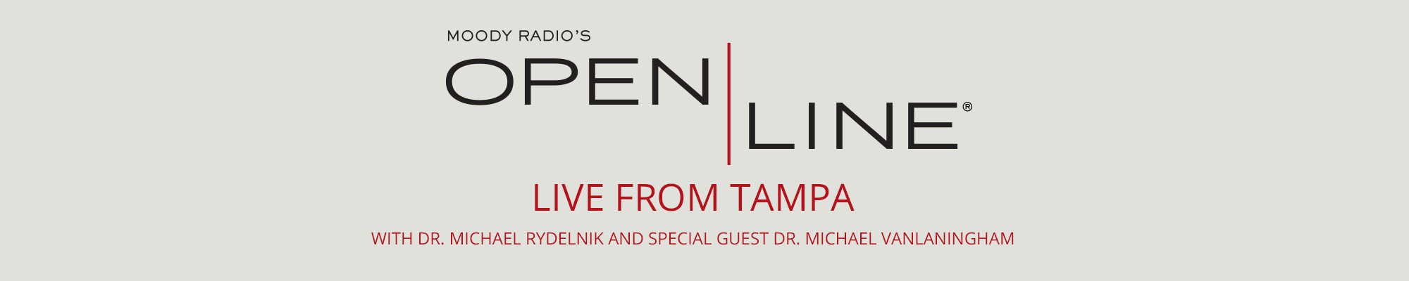 Open Line LIVE in Tampa