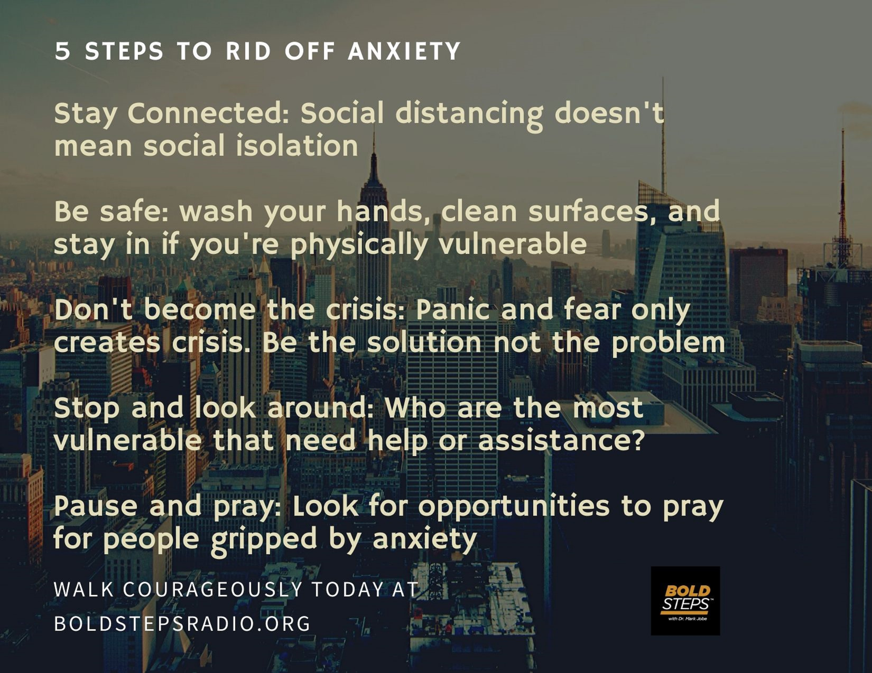 5 Steps to Rid Off Anxiety