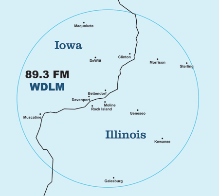 WDLM Coverage Map